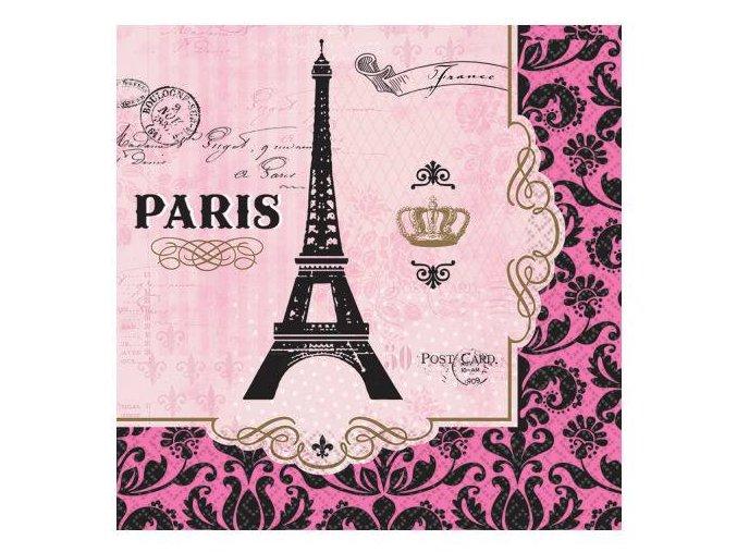 eng pl Lunch Napkins A Day In Paris squared paper 33 cm 16 pcs 27159 1