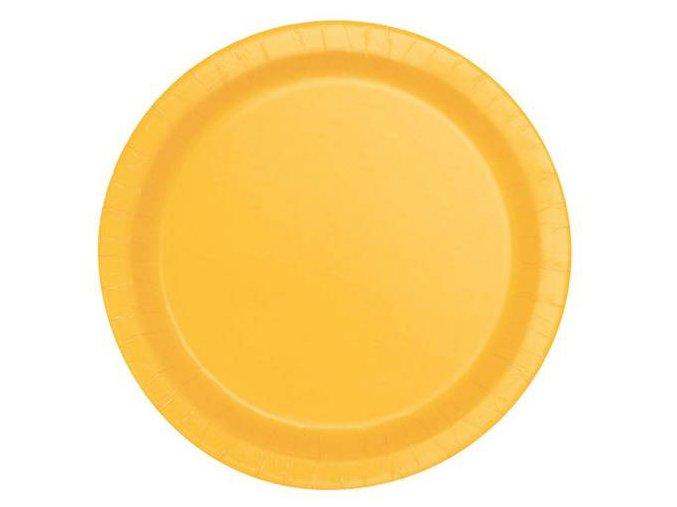 eng pl Sunflower Yellow Paper Plates 18 cm 8 pcs 25292 2