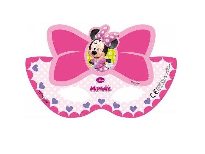 Škraboška - maska Minnie Mouse 6ks v balení