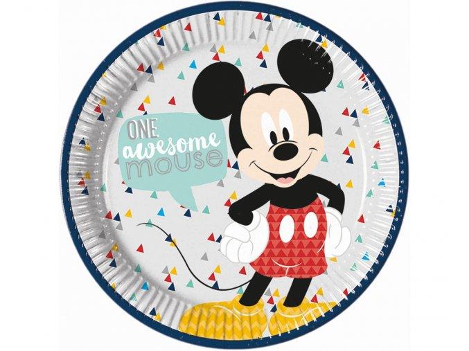 talerzyki papierowe mickey awesome mouse 23 cm 8