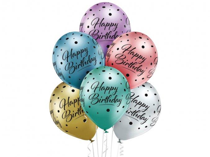 eng pl Happy birthday balloons 30 cm 6 pcs 54569 1