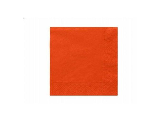 Servíky oranžové 33x33cm 20ks v balení