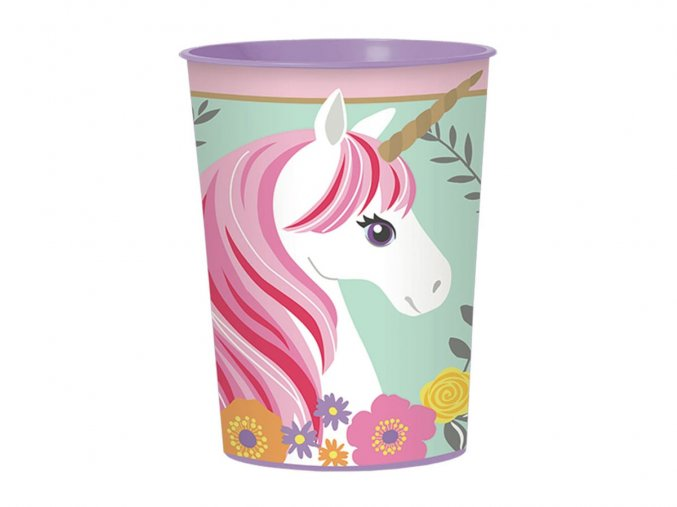 eng pl Plastic Cup Magical Unicorn 473 ml 1 pc 31952 1 (1)