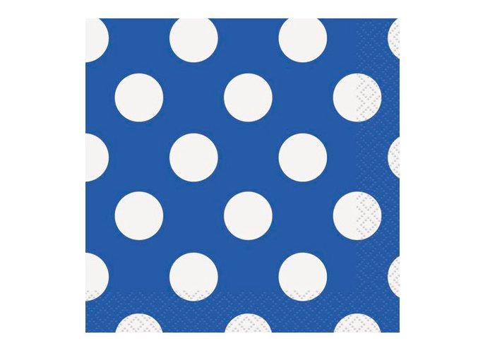 Servitky BODKA modré 25cm, 16ks v balení