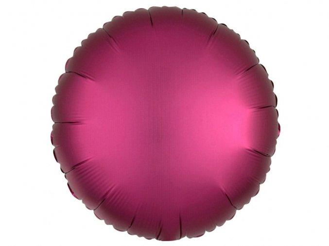 eng pl Rose Round Foil Balloon 43 cm 1 pcs 32272 2