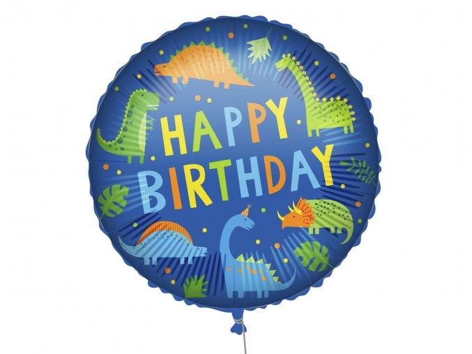 eng pl Happy Birthday Dino Foil Balloon 46 cm 1 pc 52998 1