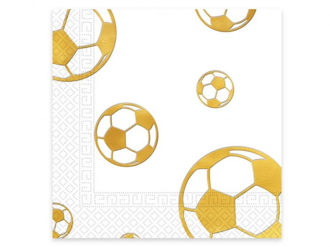 eng pl Lunch napkins Football Gold 33 cm 20 pcs 31843 2