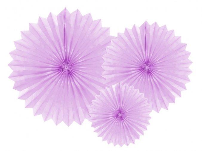 eng pl Decorative rosettes lavender 3 pcs 33306 1