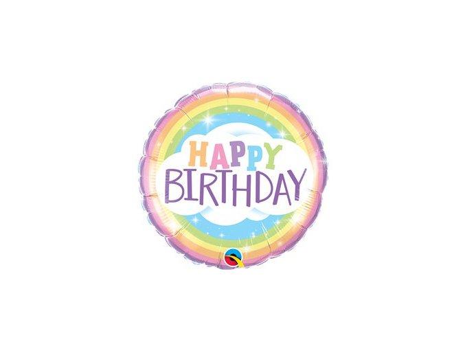 Fóliový balón Happy birthday dúha 46cm
