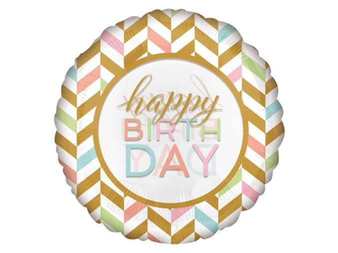 eng pl Happy Birthday Foil Balloon 71 cm 32463 1