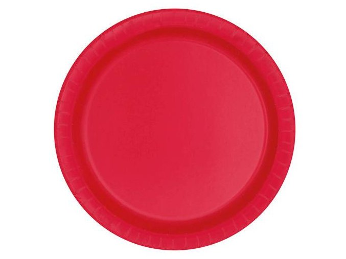 eng pl Ruby Red Paper Plates 23 cm 8 pcs 25319 2