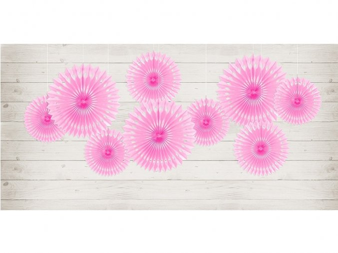 eng pl Decorative rosettes bright pink 3 pcs 32505 2