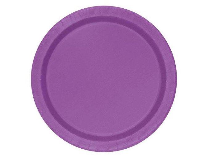 eng pl Pretty Purple Paper Plates 23 cm 8 pcs 25589 1