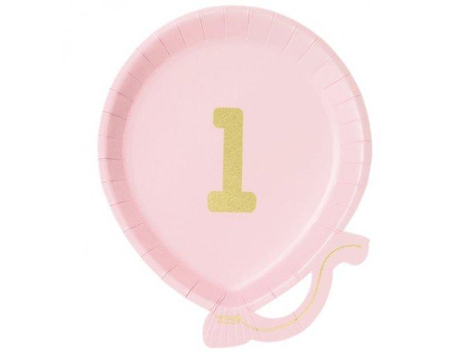 Tanier Balón Ružový 12ks v balení