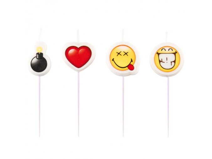 Sviečky Smiley emoji 4ks