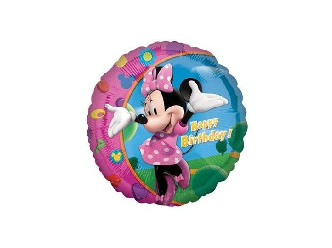 balon foliowy 18 cir minnie happy birthday