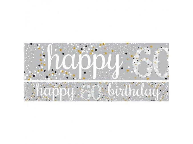 Banner ,,60,, Happy Birthday 1ks