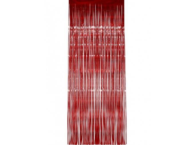 dekoračný záves červený 90x250cm