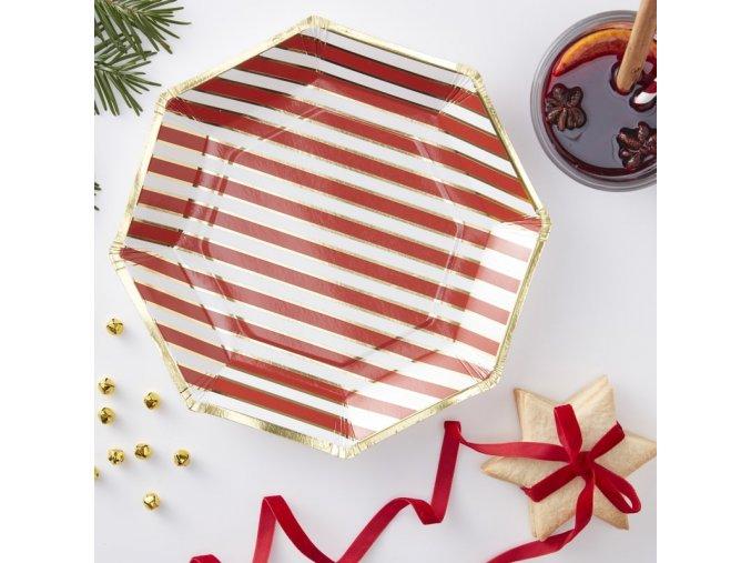 rg 334 candy cane striped paper plate min