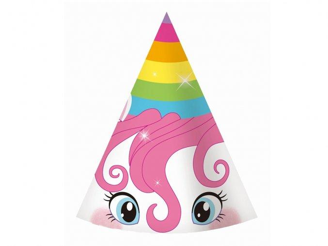 eng pl Rainbow Unicorn Party Hats 6 pcs 32556 2