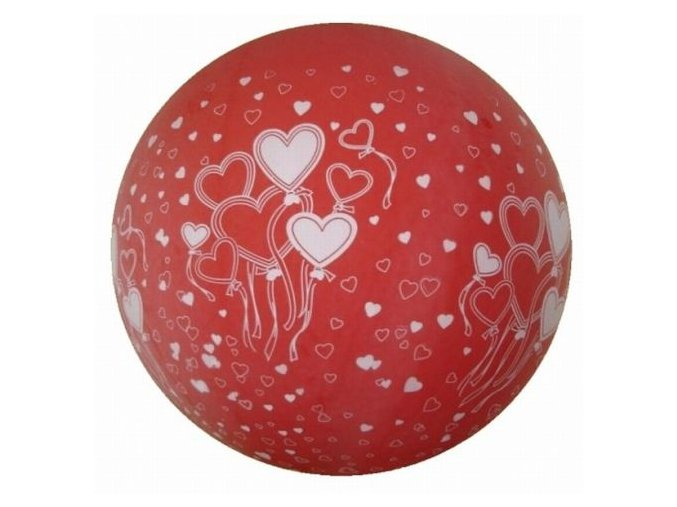 Jumbo balón latexový 1m Red in hearts