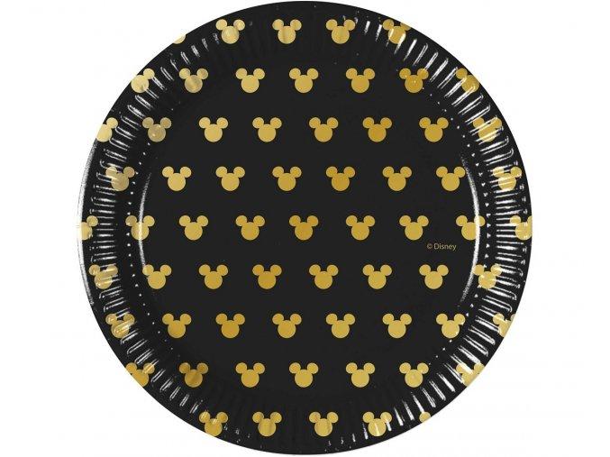 talerzyki papierowe mickey gold 20 cm 8 szt