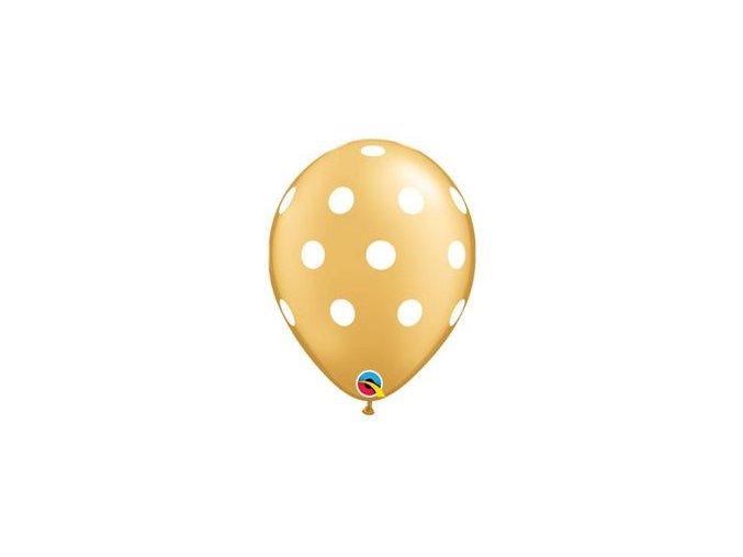 11 inch es big polka dots gold white lufi q52958