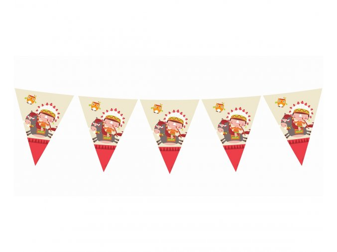 banner flagi indianskie party dl 360 cm 11 fl