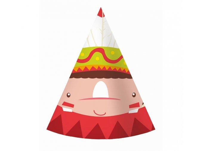 czapeczki papierowe indianskie party 6 szt