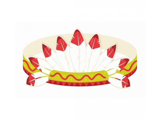 opaski na glowe indianskie party 3 szt