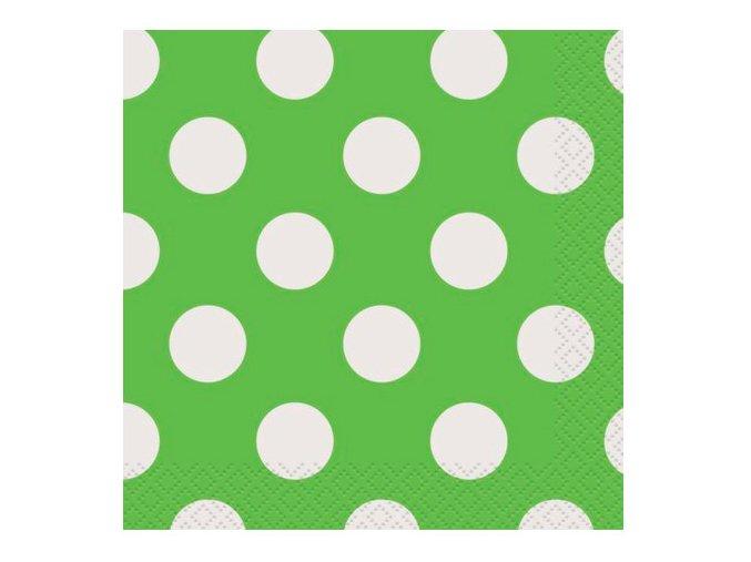 Servítky zeleno limetková 25,4x25,4cm 16ks v balení