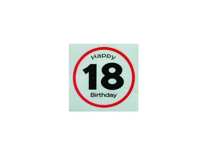 "Servitky s číslom ""18""Happy Birthday 20ks v balení"