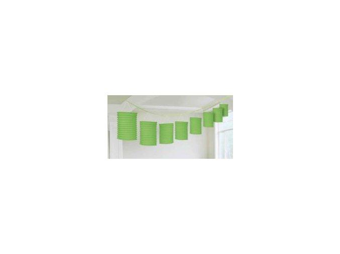 Lampiónová girlanda zelená 3,6m