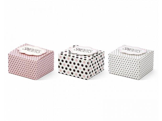 Papierové krabičky Sweet 6ks v balení