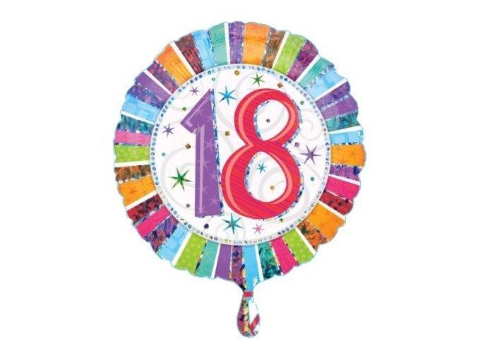 """Fóliový balón pružkový""""18"""" Farebný 45cm"""