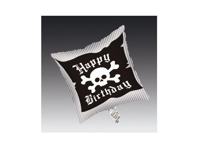 Fóliový balón Happy Birthday Pirát 45cm