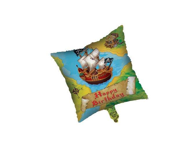 Fóliový balón Pirát Happy Birthday ,,18,,