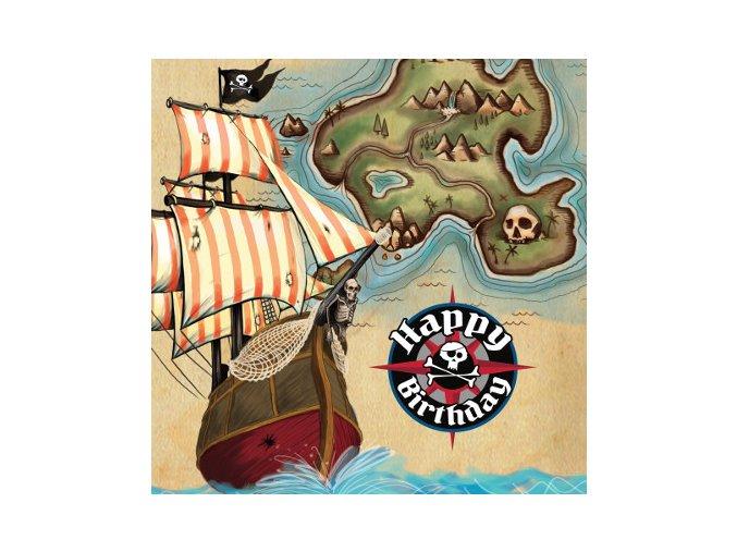 Servitky Pirát 16ks v balení