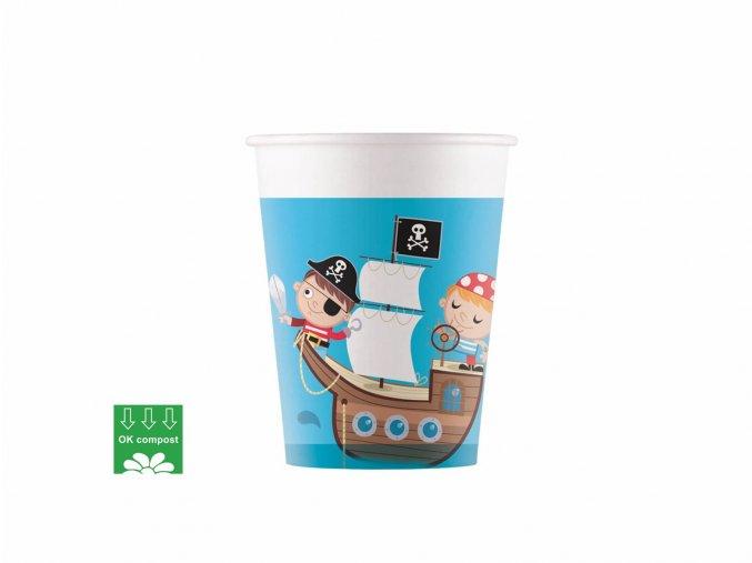 eng pl Compostable cups Pirates Treasure Hunt 200 ml 8 pcs 45649 1