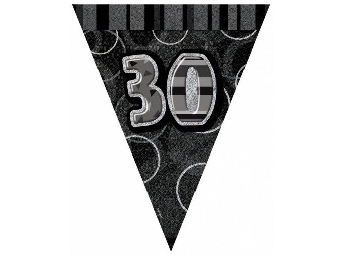 """Vlajková girlanda čierna """"30""""gllit"""