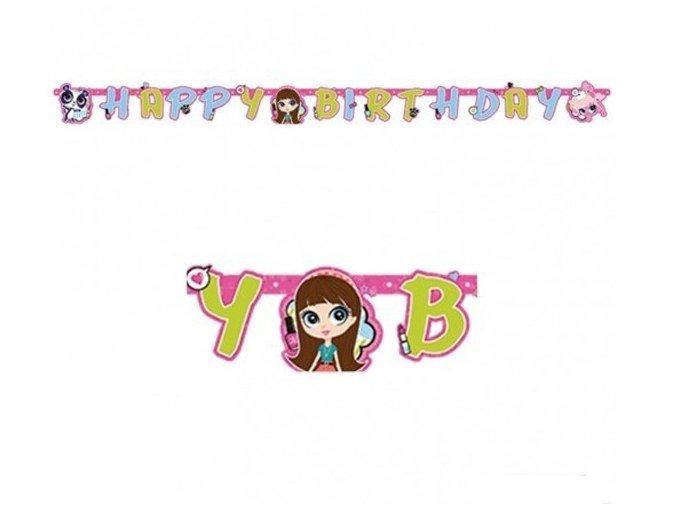 Banner Happy Birthday Littlest Pet Shop 1,8m