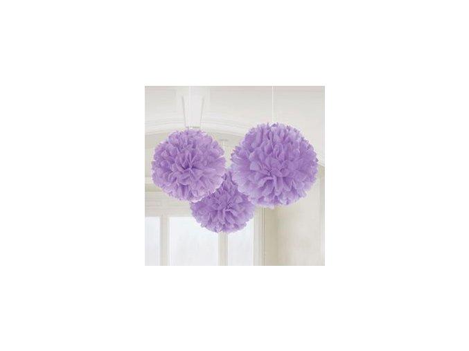 Visiace gule fialové 3ks v balení