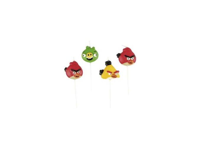 Sviečky Angry Birds 4ks v balení
