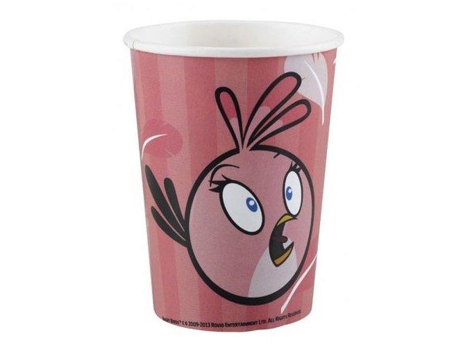 Pohár Angry Birds ružový, 250ml, 8ks v balení