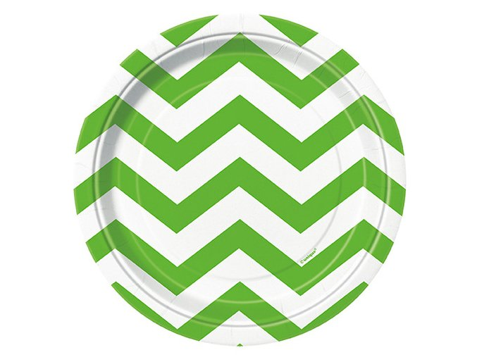 Tanier Chevron zelený 17,4cm 8ks v balení