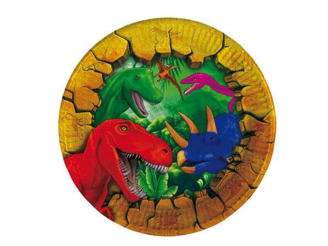 eng pl Plates Dinosaur 18 cm 6 pcs 38473 2