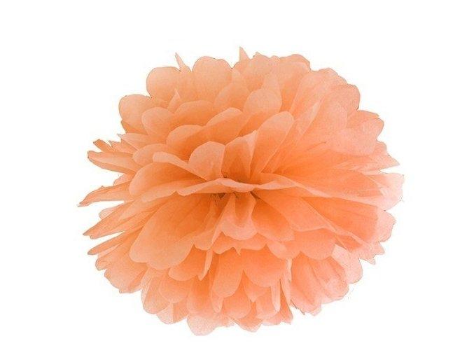Pompon oranžový 35cm