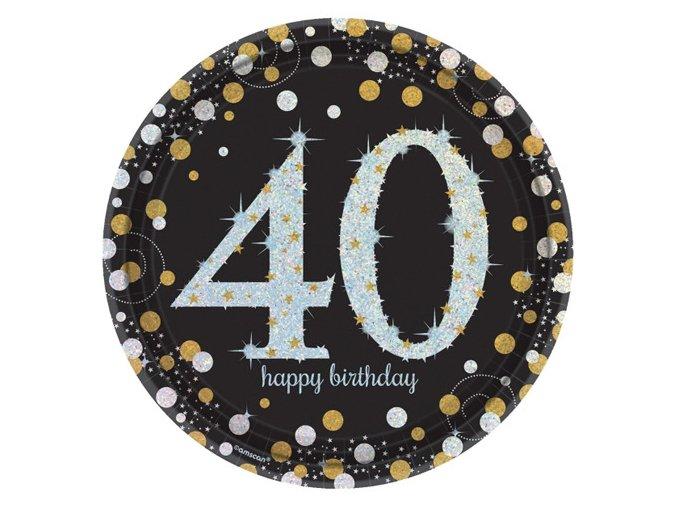 "Tanier Happy Birtdhay Gold ""40""  6"