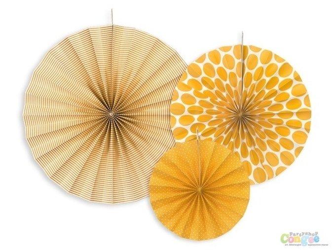 Rozetky visiace oranžové DOTS 3ks v balení