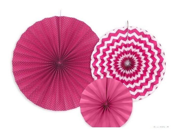 Rozetky visiace ružové DOTS 3ks